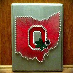 Ohio State University!! State string art for a custom Etsy order!