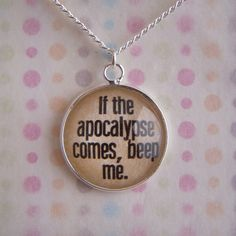"""Buffy The Vampire Slayer """"Beep Me"""" Necklace by itsfandomtime on Etsy https://www.etsy.com/listing/182896136/buffy-the-vampire-slayer-beep-me"""