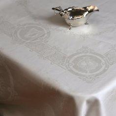 Irish Linen Damask Celtic Tablecloth - The Irish Store Linen Tablecloth, Table Linens, Irish Store, Irish Decor, Round Tower, Irish Roots, Irish Celtic, Fine Linens, Celtic