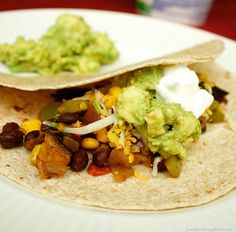 A vegetarian taco that stands up to its meaty counterparts. Black Bean Tacos, Vegetarian Tacos, Tasty Kitchen, Summer Squash, Recipe Community, Black Beans, Food For Thought, Guacamole, Zucchini