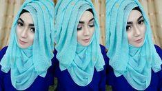Most Requested Tutorial easy Layered look Hijab Style with saree Kamij Simple Hijab Tutorial, Hijab Style Tutorial, Muslim Wedding Dresses, Muslim Dress, Hijab Wear, Hijab Outfit, Turban Hijab, Abaya Fashion, Muslim Fashion