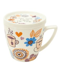 This 'Tea Time' Mug & Lid by Boston Warehouse is perfect! #zulilyfinds