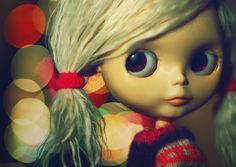 https://flic.kr/p/7vD2bK | Oooooo Sparkles - 191/365 ADAD  -  2/52 Weeks of Blythe | Addie Loo was very impressed that I made bokehs........ so was I. Loser me still had the Christmas tree up so I took some indoor night shots. I did some shaped bokehs too & will share later.  Got to get to work!  Have a GREAT day!  I Just realized I forgot to upload this to Weeks of Blythe. It was actually taken during the time of the 2nd week. SORRY!!!!