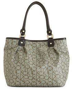 Calvin Klein Handbag, Hudson Monogram Shopper