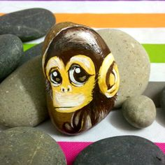 New Hand Painted Creative Folk Art Stone Monkey Panda Elephant Giraffe Turtle For Gifts Collection