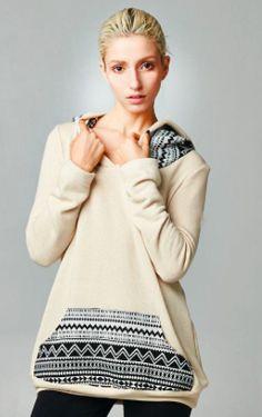 Shopmamie.com - Aztec Hooded Top, $19.50 (http://shopmamie.com/aztec-hooded-top/)