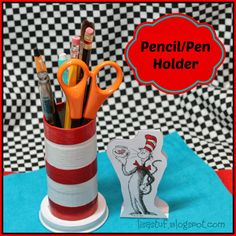 Stuff-n-Such By Lisa: Dr. Seuss Cat-in-the-Hat Pen/Pencil Holder