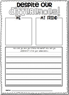 friendship worksheets for kindergarten ~ Brandonbrice.us