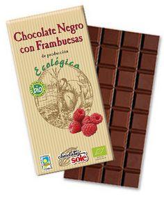 Chocolate negro con frambuesas  http://www.chocolatessole.com/portfolio/chocolate-negro-frambuesas-bio/