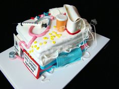 Nurse Cake with Fondant Supplies
