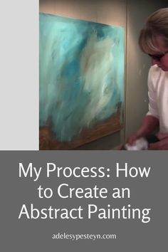 Blue Abstract Painting, How To Abstract Paint, How To Paint Canvas, Abstract Art Paintings, Paint Your Art Out, Diy Abstract Art, Modern Paintings, Abstract Portrait, Portrait Paintings