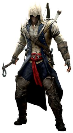 """I got Ratonhnhaké:ton from """"Assassin's Creed III""""! Which """"Assassin's Creed"""" Assassin Are You? Assassin's Creed 3, Arte Assassins Creed, Character Inspiration, Character Design, Connor Kenway, Gaming, Armors, Video Games, Ancient History"""