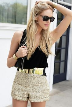 Maje belt, cuffs robyn rhodes look fashion, fashion beauty, womens fashion, Looks Chic, Looks Style, My Style, Look Fashion, Fashion Beauty, Womens Fashion, Neon Top, Look Con Short, Summer Outfits