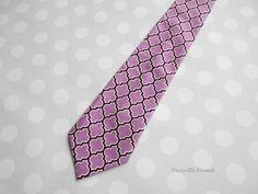 Boys Tie in Orchid  Purple Tie  Lavender Tie  by crocodilecrunch