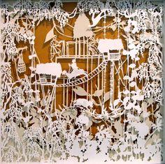 #papercraft #papercutting. #Kirigami art work by Emma Van Leest