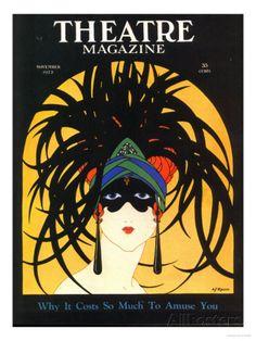 Theatre, Masks Magazine, USA, 1920 Prints at AllPosters.com