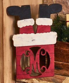 Another great find on #zulily! Unfinished Santa in the Chimney Initial Décor #zulilyfinds
