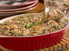 Mushroom Chicken & Rice Bake | EverydayDiabeticRecipes.com Good for Weight Watchers and looks delicious.