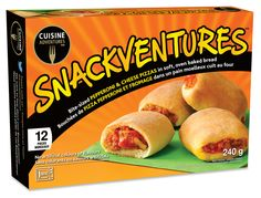 Frozen snacks and meals for every day and any occasion! Www.cuisineadventures foods.com  Frozen pizza bites!