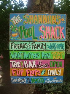 TROPICAL PERSONALIZED WELCOME Paradise Lake Pool by FRANSCOUNTRYNY