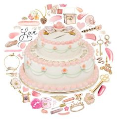 """""""Juicy Couture Cake Bank"""" by mademoiselledanielle ❤ liked on Polyvore featuring Juicy Couture, Benefit, Estée Lauder, Mineral, Replenix, Victoria's Secret, Capezio, My Little Thing, Betsey Johnson and Chanel"""