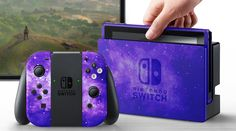 The Nintendo Switch gets a ton of new flavorful paintjobs by a dedicated fan.hopefully Nintendo will take notice Gaming Setup, Gaming Computer, Nintendo Switch Case, Nintendo Switch Accessories, Consoles, Gamer Room, Cute Games, Game Controller, Nintendo Wii