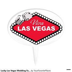 Lucky Las Vegas Wedding Favor Cake Picks