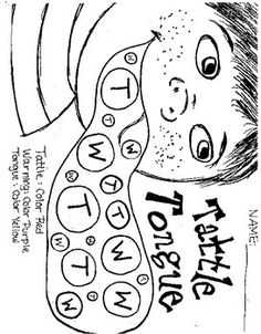 Tattle Tongue Printables Pictures To Pin On Pinterest Tattle Tongue Coloring Page