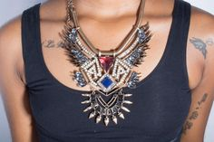 The LIMITED EDITION Hazel Gemstone Tiered Statement Necklace