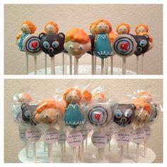 brave cake pops (merida, brother, bear, target)