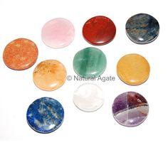 Mixed Gemstone Round Disc