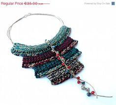 ON SALE BY Night Cotton yarn Crochet Ethnic by GiadaCortellini, €30.00