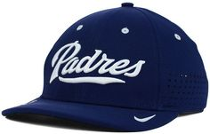 This Nike MLB Vapor Swoosh Flex cap is a great way to top off your look with some ballpark spirit. You'll stay cool thanks to the mesh-panel construction and Dri-FIT material, while the vivid embroidered graphics at front show off your San Diego Padres pride. High crown Structured fit Normal bill Raised embroidered team wordmark at front Nike swoosh logo at left bill Embroidered team logo at back Mesh panels at back Dri-FIT moisture-wicking technology Stretch fitted Polyester Spot clean only
