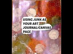 How to Use Junk Mail for Canvas/Art Journal Page for Beginners - YouTube
