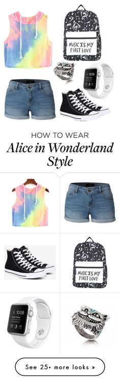 """"""""""" by gurveenpanesar on Polyvore featuring LE3NO and Converse"""