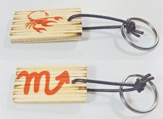 Keychain with zodiac sing and astrological symbol  Scorpio, birthday gift, keys organization, Valentine's Day, gift for him, gift for her, by BurnedMatchCreations on Etsy