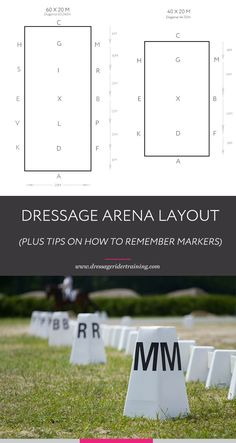 I share all about dressage arena layout, including what the letters mean, where they originated from and how to remember them when training. Trail Riding Horses, Horse Riding Tips, Horse Tips, Dressage Arena Letters, Dressage Horses, Draft Horses, Horse Training, Training Tips, Andalusian Horse