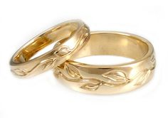 gold wedding bands sets