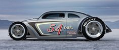 Bonneville Flats Speed VW. Not sure if this is real or photo-chopped. But damn, if its real its so fine and if its not... some one needs to build this.