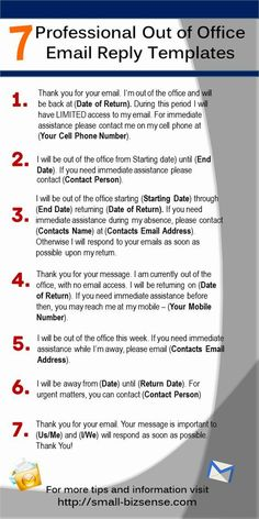 Here are 7 Professional Out of Office Email Reply Templates that you can use - Email Marketing - Start your email marketing Now. - Here are 7 Professional Out of Office Email Reply Templates that you can use English Writing Skills, Writing Tips, Writing Desk, Writing Prompts, Business Writing Skills, English Lessons, Out Of Office Email, Out Of Office Reply, Out Of Office Message