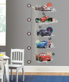 Put some magic into home decor with this Lightning McQueen wall growth chart that's 100 percent repositionable! Constructed from durable vinyl and featuring all the darling details of a fan favorite, it's a sweet treat for any Disney dreamer.