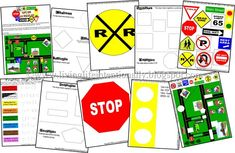 Safety Award: Traffic Signs {FREE} Preschool Pack - Use for safety section in activity book. Printable Preschool Worksheets, Free Preschool, Kindergarten Worksheets, Preschool Activities, Free Printable, Kids Worksheets, Transportation Unit, Community Helpers Preschool, Environmental Print