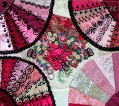 Crazy quilting for beginners beautiful New Ideas Easy Hand Quilting, Hand Quilting Patterns, Quilting Templates, Easy Quilts, Quilting Tutorials, Quilting Designs, Quilting Ideas, Crazy Quilt Stitches, Crazy Quilt Blocks