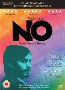NO (15).2012 CHILE LARRAÍN, PABLO  £19.99 Academy Award-nominated political drama set against the backdrop of the Chilean national plebiscite of 1988. www.worldonlinecinema.com
