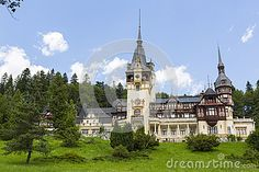 Peles castle on July 24, 2013 in Sinaia, Romania. Given its historical and artistic value, Peles castle is one of the most important and beautiful monuments in Europe.