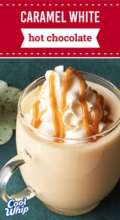 Caramel White Hot Chocolate – Discover a new winter favorite today with this warm and cozy drink recipe. You've never had hot chocolate quite like this 20-minute beverage.