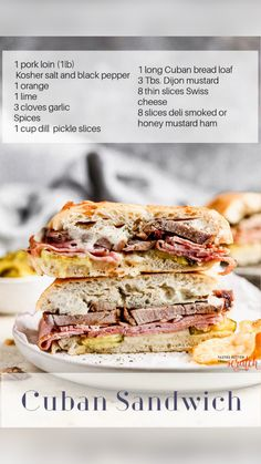 Cuban Sandwich, Hot Sandwich Recipes, Baked Sandwiches, Sandwich Ideas, Wrap Sandwiches, Cuban Recipes, Pork Recipes, Great Recipes, Dinner Recipes