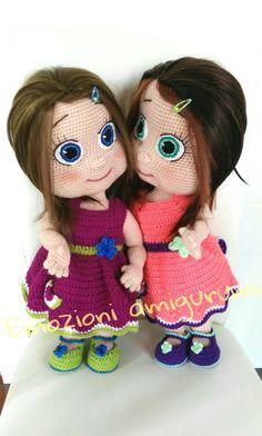 Doll amigurumi sister bambole