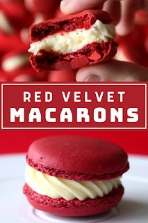When you're craving just a little red velvet goodness, this sweet macaron will hit the spot. - The ingredients and how to make it please visit the website Best Dessert Recipe Ever, Best Easy Dessert Recipes, Dessert Recipes With Pictures, Quick Easy Desserts, Sweets Recipes, Quick Recipes, Hot Desserts, Desserts Menu, Cheesecake Desserts