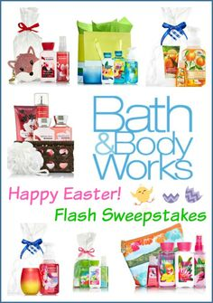 #Flash #Giveaway Bed & Bath Body Works   One winner will receive a surprise Bath & Body Works Prize Package. Ends 4/6